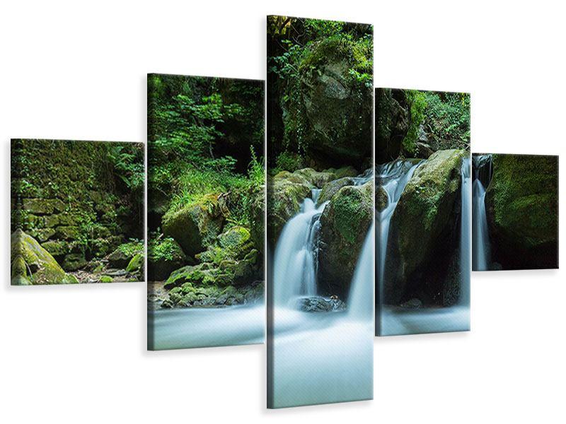 Leinwandbild 5-teilig Fallendes Wasser