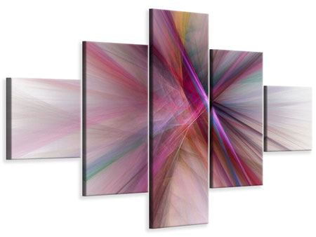 Leinwandbild 5-teilig Abstraktes Lichterleuchten
