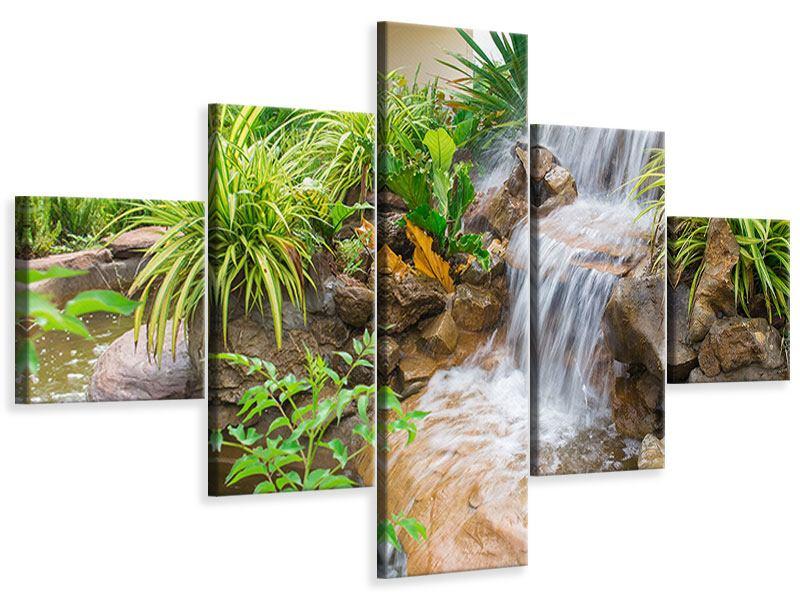 Leinwandbild 5-teilig Paradiesgarten