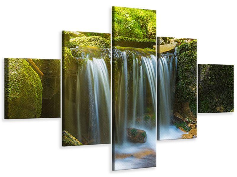 Leinwandbild 5-teilig Schönheit des fallenden Wassers