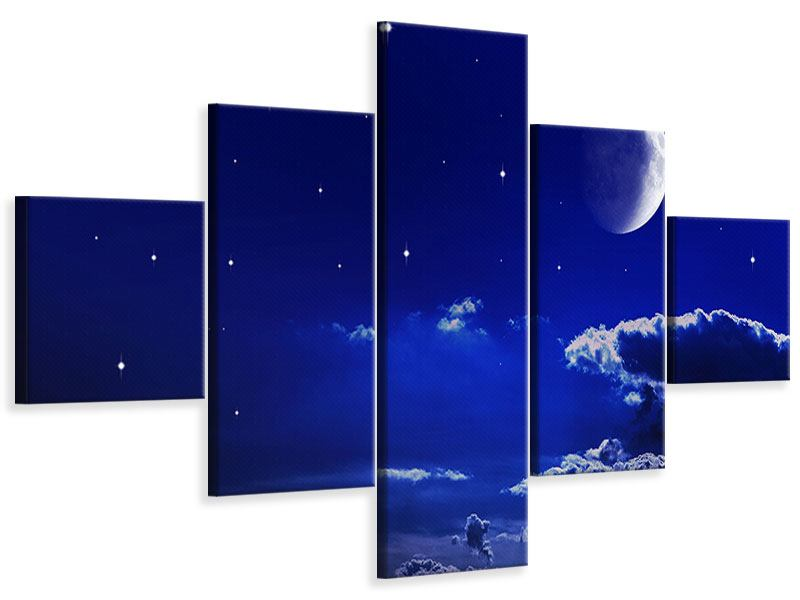 Leinwandbild 5-teilig Der Nachthimmel