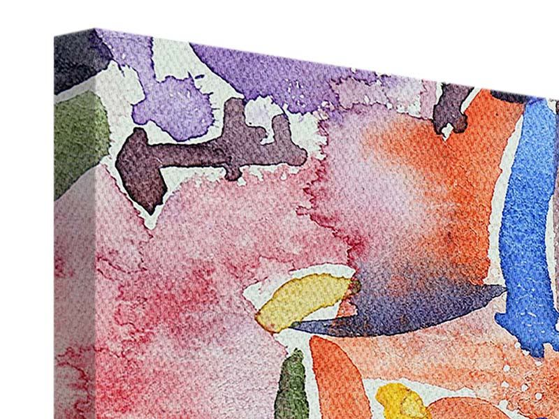 Leinwandbild 5-teilig Aquarell