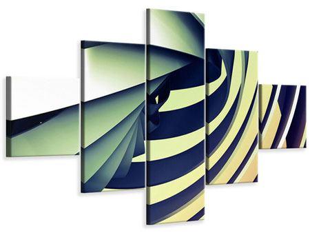 Leinwandbild 5-teilig Abstrakte Perspektiven