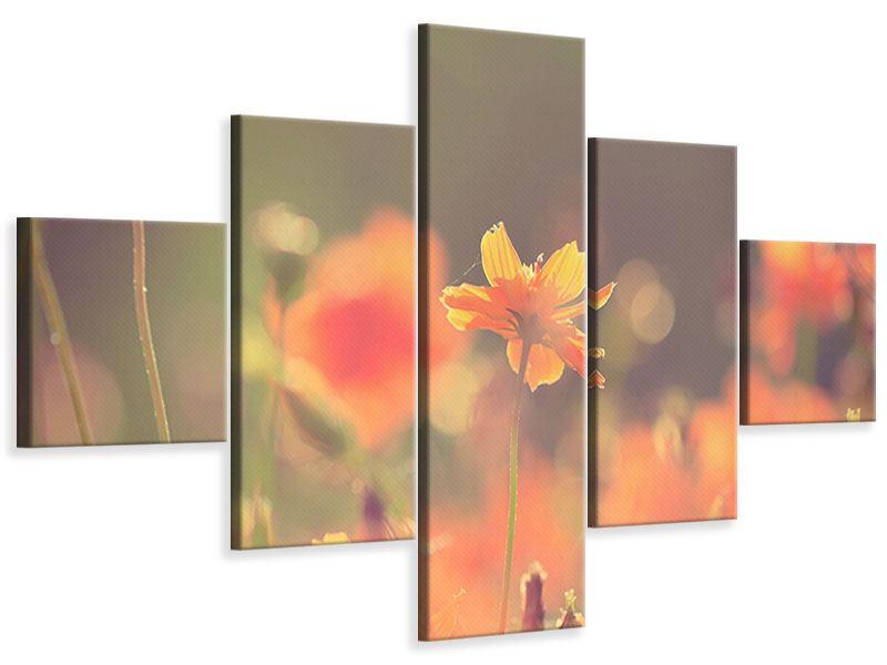 Leinwandbild 5-teilig Blütenpracht