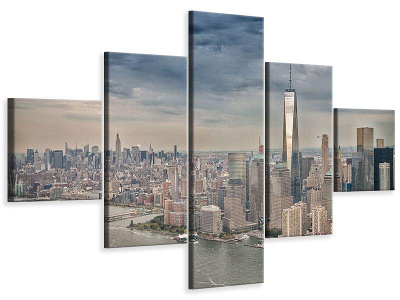 Leinwandbild 5-teilig Skyline Manhattan