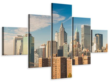 Leinwandbild 5-teilig Skyline New York
