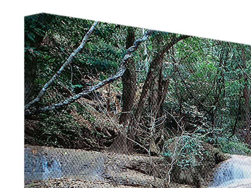 Leinwandbild 5-teilig Ein Wasserfall