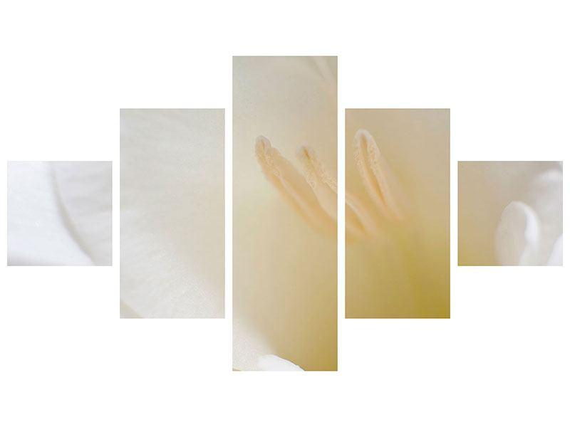 Leinwandbild 5-teilig In einer Blüte