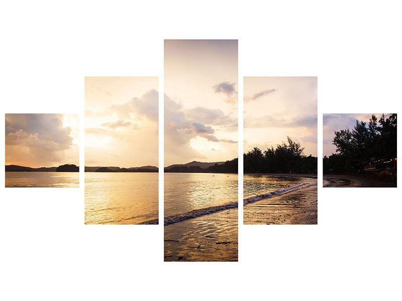 Leinwandbild 5-teilig Das Ufer