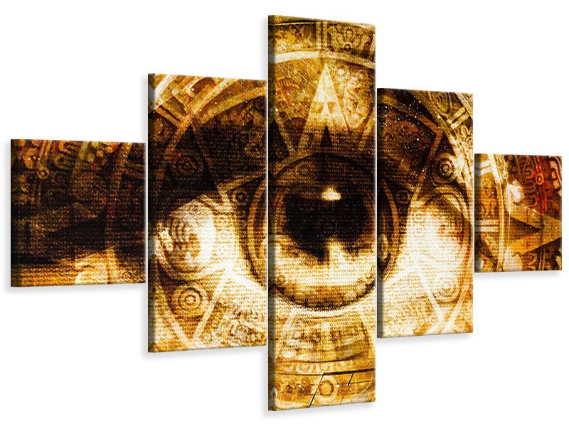 Leinwandbild 5-teilig Fraktales Auge