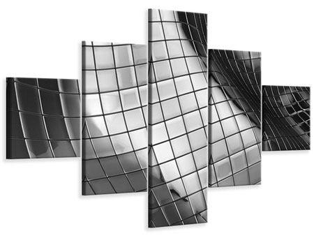 Leinwandbild 5-teilig Abstrakter Stahl