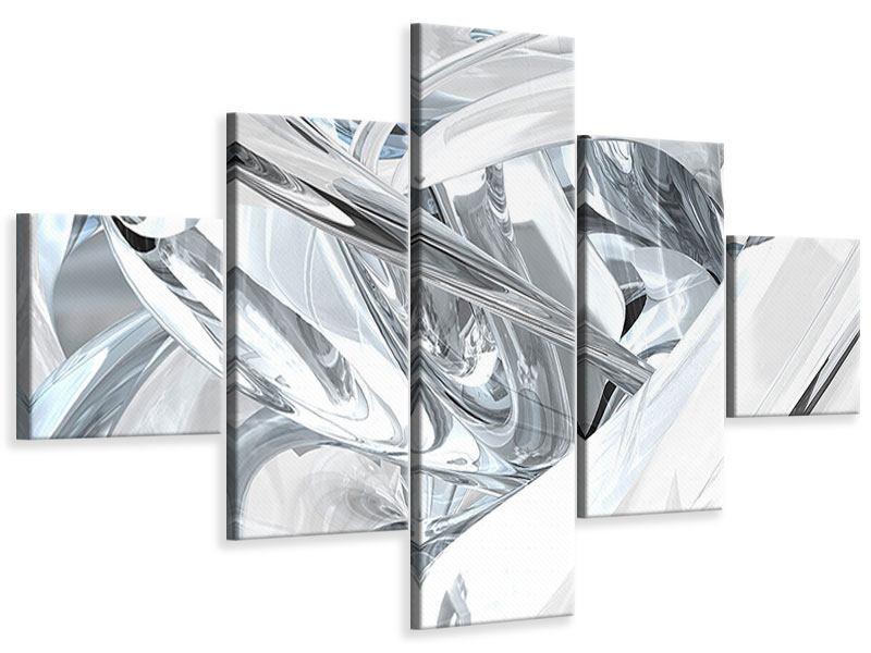 Leinwandbild 5-teilig Abstrakte Glasbahnen
