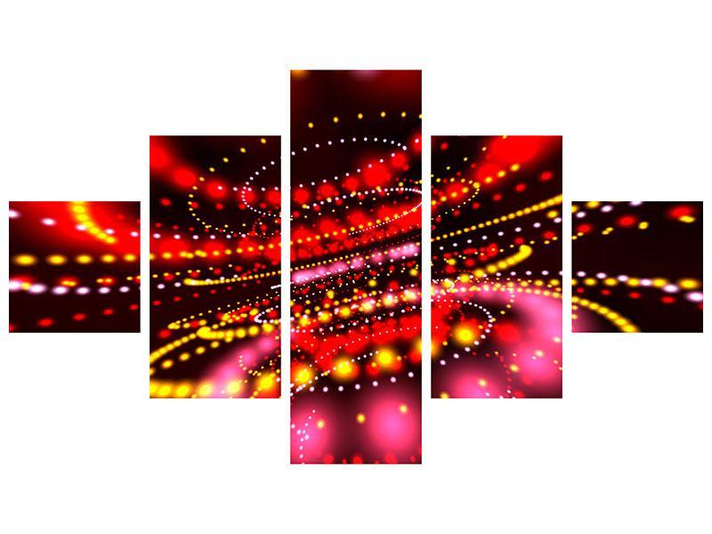 Leinwandbild 5-teilig Abstraktes Lichtspiel