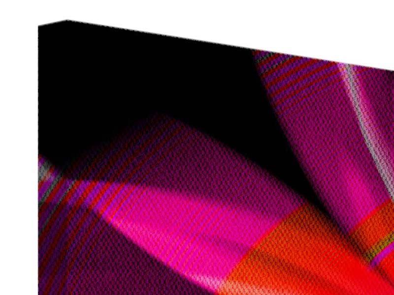 Leinwandbild 5-teilig Abstrakt Flower Power