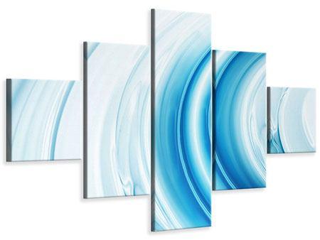 Leinwandbild 5-teilig Abstraktes Glas