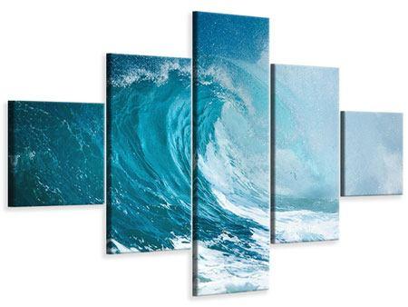Leinwandbild 5-teilig Die perfekte Welle