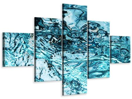 Leinwandbild 5-teilig Schönheit Wasser
