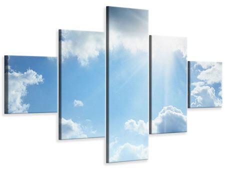 Leinwandbild 5-teilig Himmelshoffnung