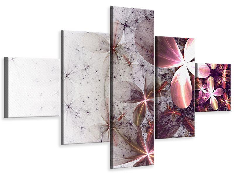 Leinwandbild 5-teilig Abstrakte Blumen
