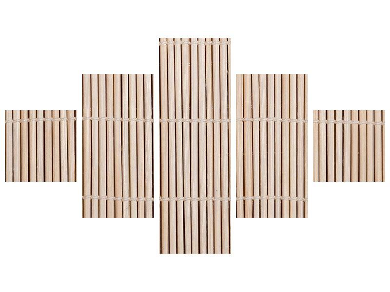 Leinwandbild 5-teilig Lucky Bamboo