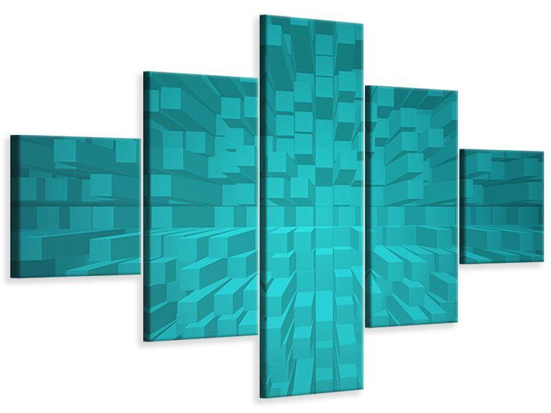 Leinwandbild 5-teilig 3D-Kubusse