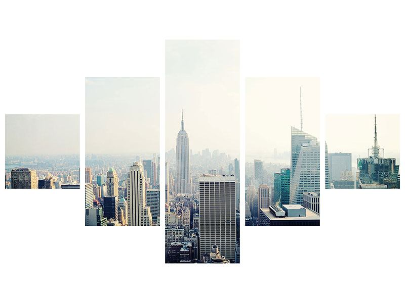 Leinwandbild 5-teilig NYC