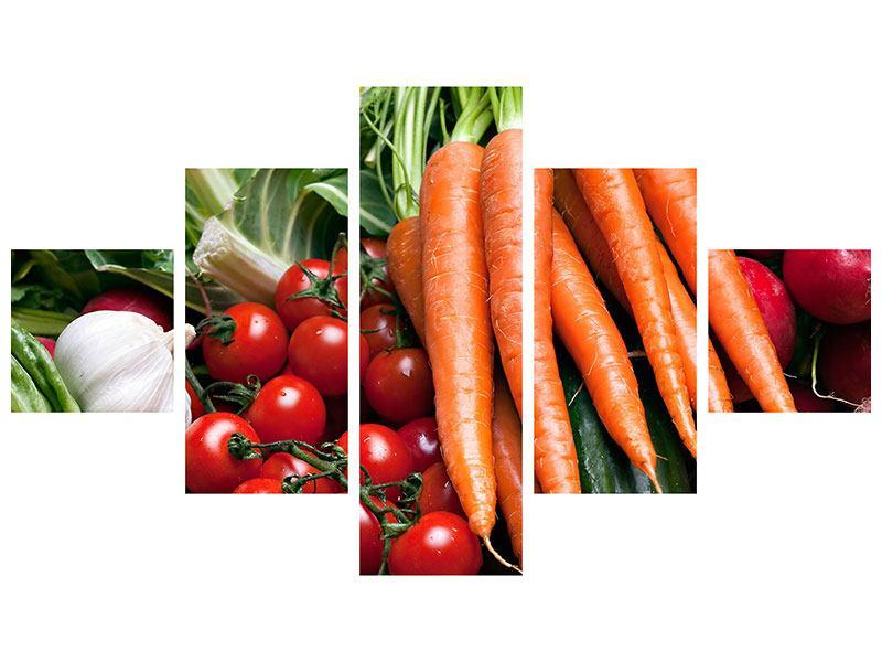 Leinwandbild 5-teilig Gemüse
