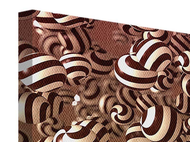 Leinwandbild 5-teilig Schokoladen-Bonbons