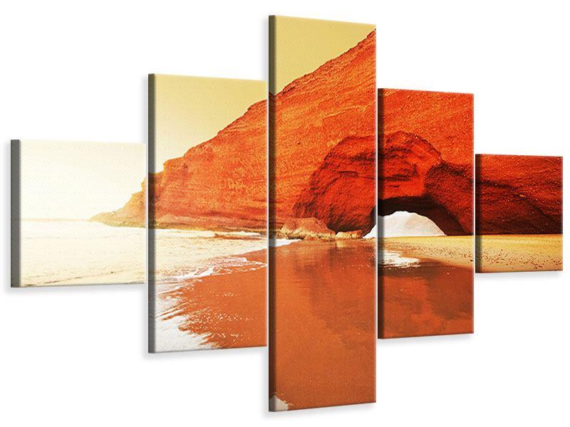 Leinwandbild 5-teilig Wasserspiegelung