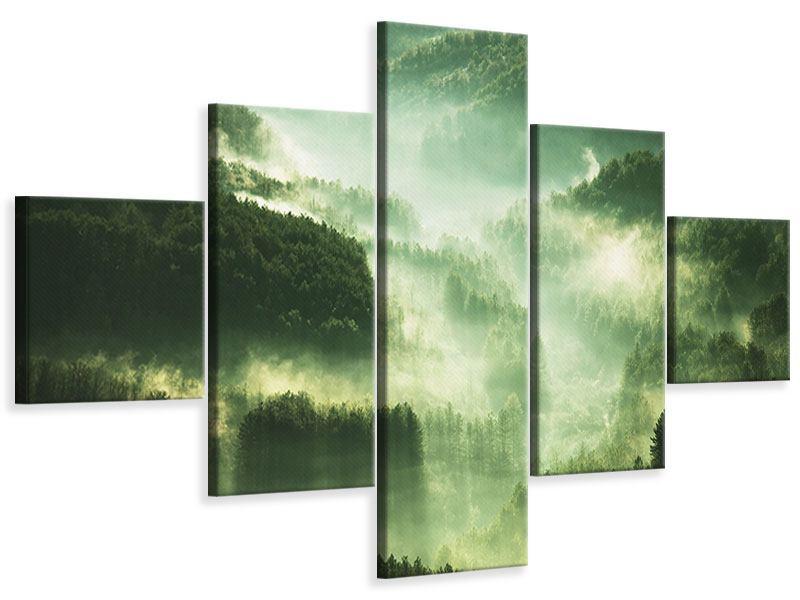 Leinwandbild 5-teilig Über den Wäldern