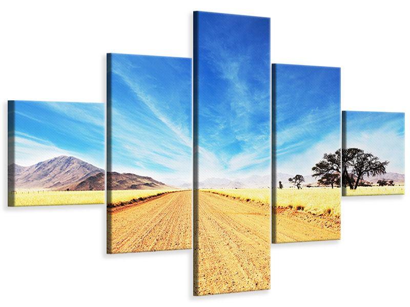 Leinwandbild 5-teilig Eine Landschaft in Afrika