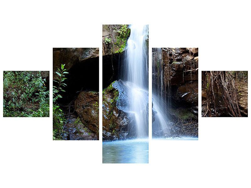 Leinwandbild 5-teilig Die blaue Lagune