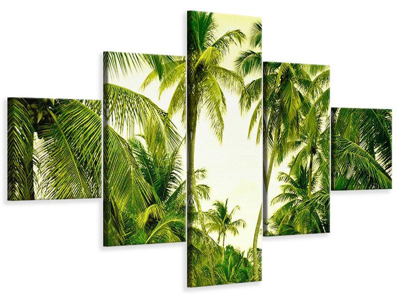 Leinwandbild 5-teilig Reif für die Insel