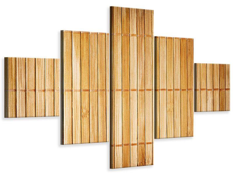 Leinwandbild 5-teilig Bambusrohre