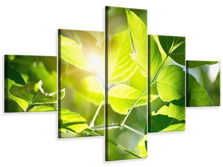 Leinwandbild 5-teilig Es grünt so grün