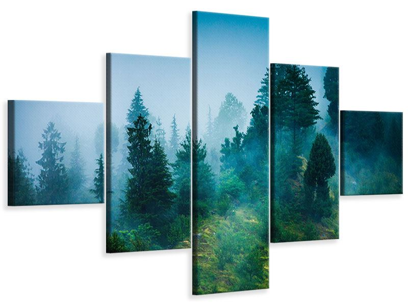 Leinwandbild 5-teilig Geheimnisvoller Wald
