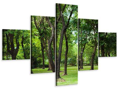 Leinwandbild 5-teilig Kirschbaum-Garten