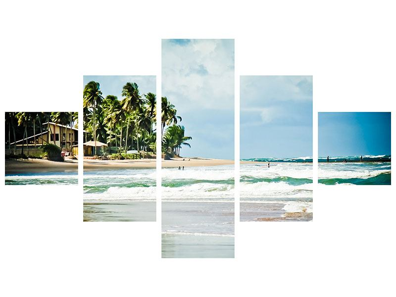 Leinwandbild 5-teilig The Beach