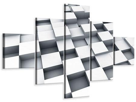 Leinwandbild 5-teilig 3D-Kubus