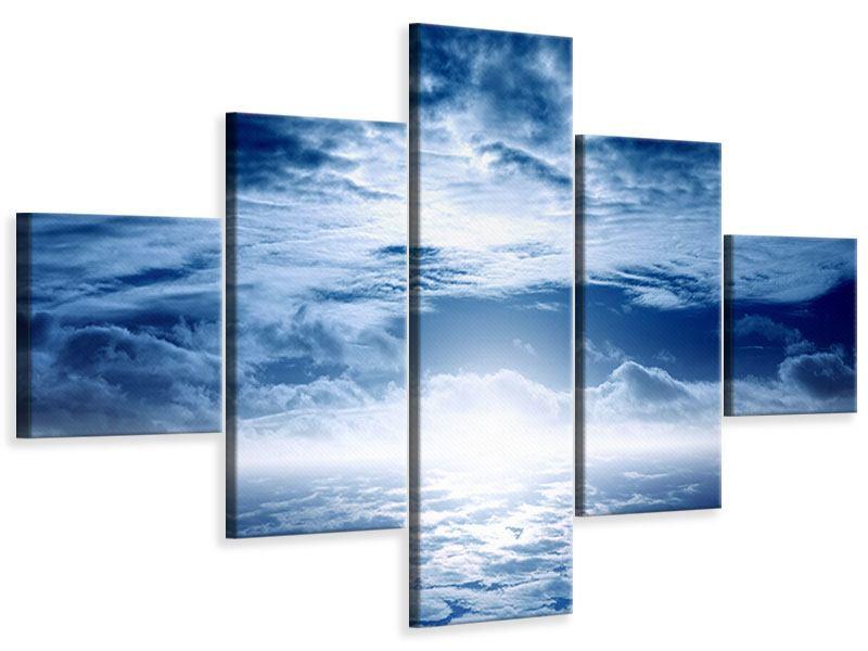 Leinwandbild 5-teilig Mystischer Himmel