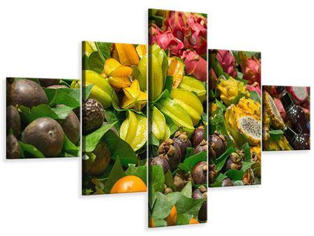 Leinwandbild 5-teilig Früchte