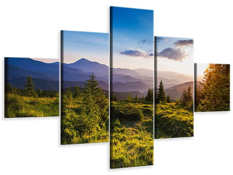 Leinwandbild 5-teilig Friedliche Landschaft