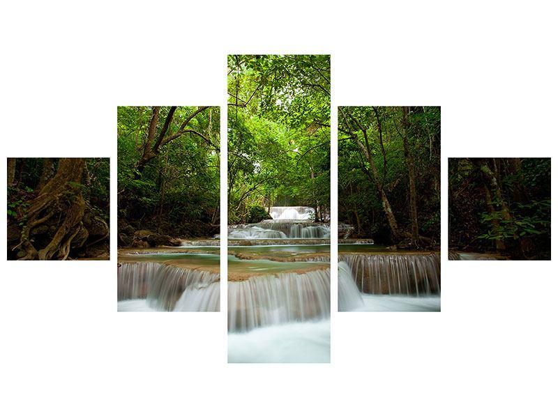 Leinwandbild 5-teilig Die 7 Stufen