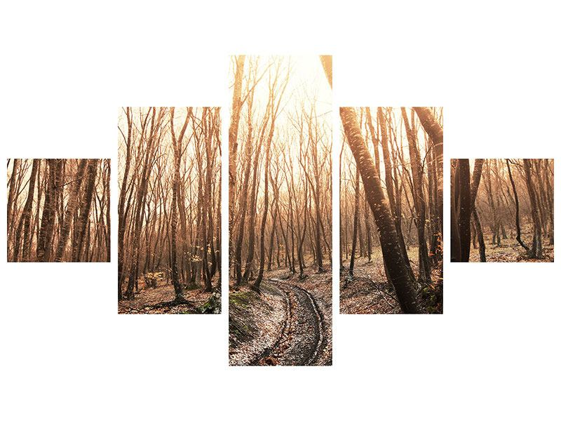 Leinwandbild 5-teilig Der kahle Wald