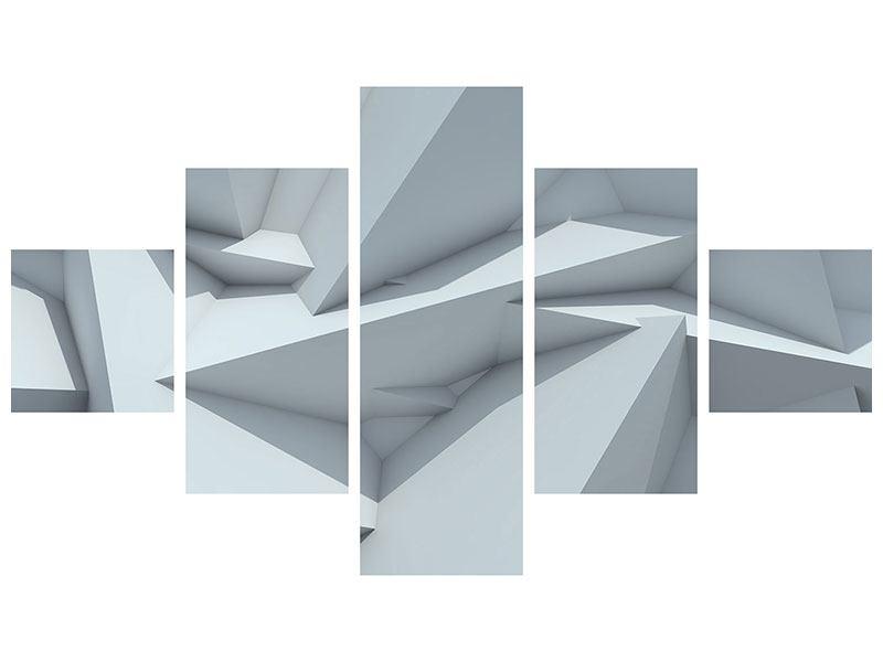 Leinwandbild 5-teilig 3D-Kristallo