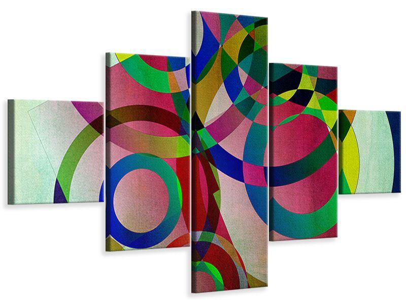 Leinwandbild 5-teilig Wandkunst