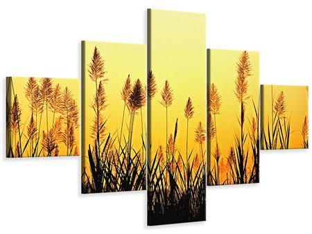 Leinwandbild 5-teilig Die Blumen des Feldes