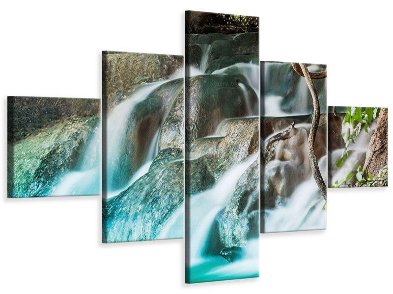 Leinwandbild 5-teilig Am Fluss des Lebens