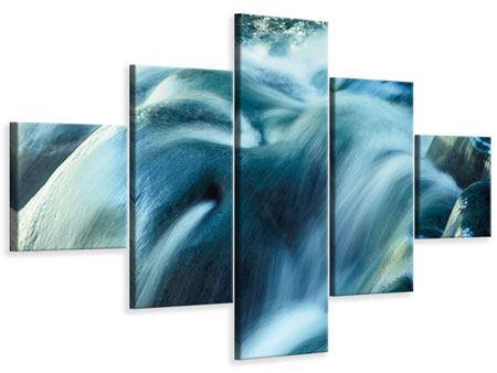 Leinwandbild 5-teilig Das Fliessende Wasser