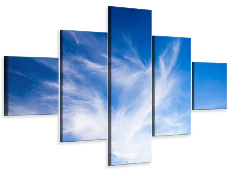 Leinwandbild 5-teilig Schleierwolken